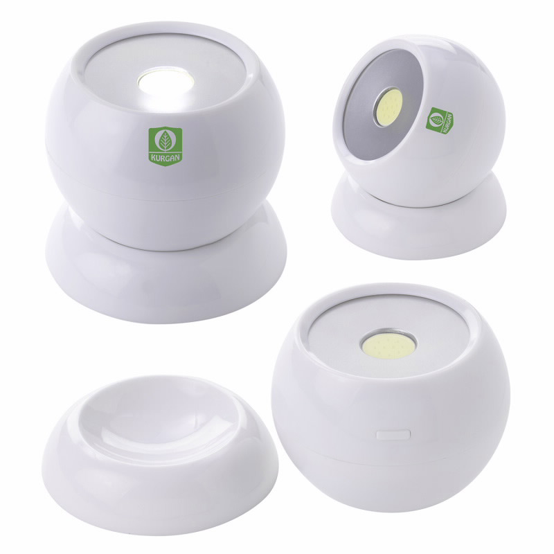 Round COB Flashlight with Magnetic Base