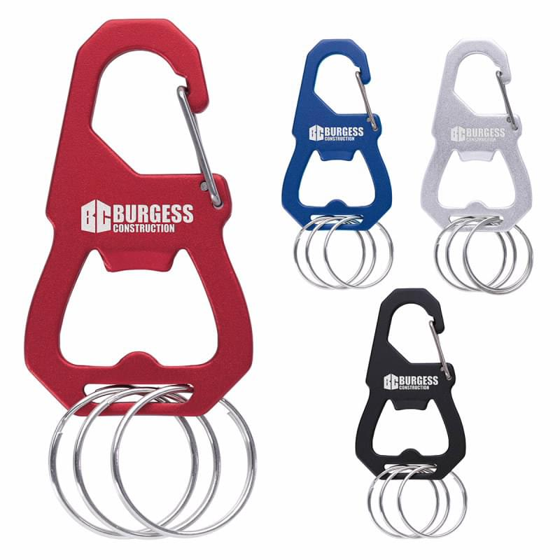 3 Keyring Carabiner with Bottle Opener