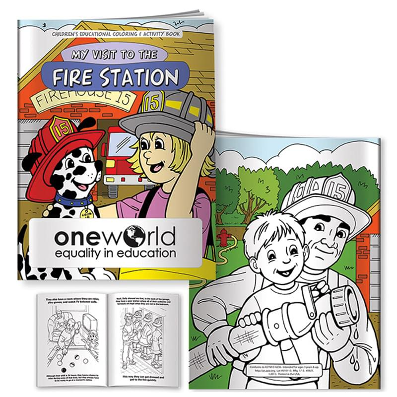 Coloring Book: My Visit to the Fire Station