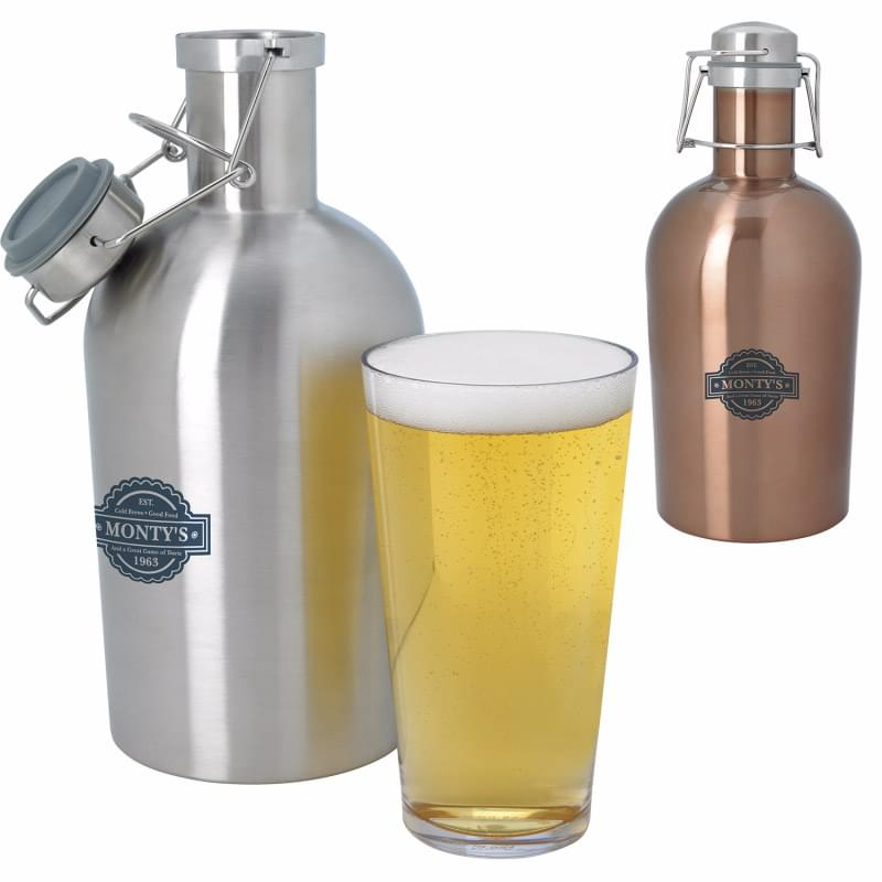 GrowlSteel(TM) Stainless Growler - 64 oz.