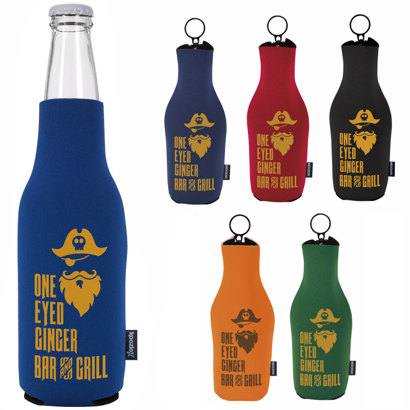 Neoprene Zip-Up Bottle KOOZIE® Kooler