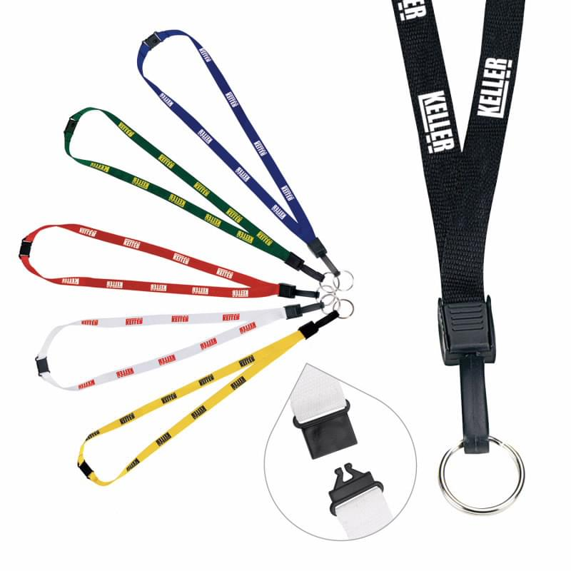 1/2-Inch Breakaway Lanyard with Key Ring