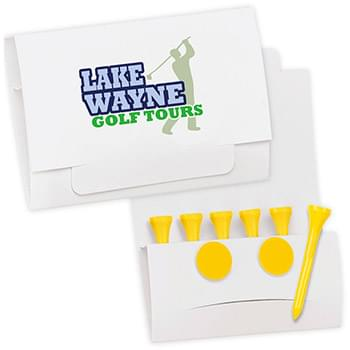 "6-2 Golf Tee Packet - Value Pak-2-1/8"" Tees"