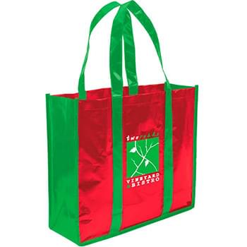 Laminated Non-Woven 3 Bottles Tote Bag
