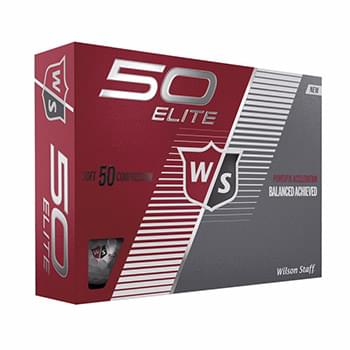 Wilson 50 Elite Golf Ball Std Serv