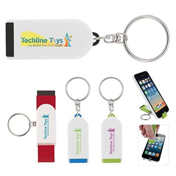 Phone Holder/Screen Cleaner Keychain