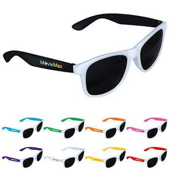Two-tone White Frame Sunglasses
