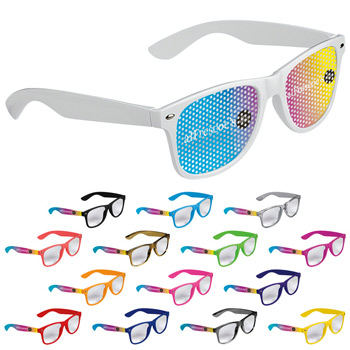 Cool Vibes Clear Lenses Glasses - Full Color