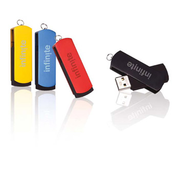 256 MB Slide USB 2.0 Flash Drive