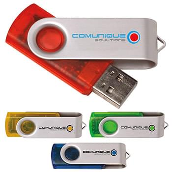 1 GB Translucent Folding USB 2.0 Flash Drive