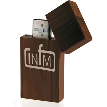 16 GB Bamboo Rectangle USB 2.0 Flash Drive