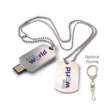 1 GB Dog Tag USB 2.0 Flash Drive