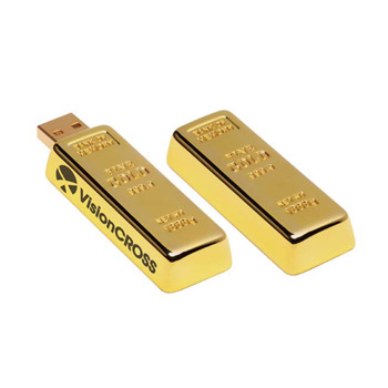 256 MB Golden Nugget USB 2.0 Flash Drive