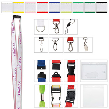 "3/4"" Polyester Lanyard with Ribbon"
