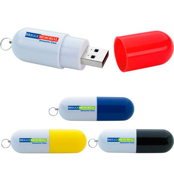 256 MB Capsule USB 2.0 Flash Drive