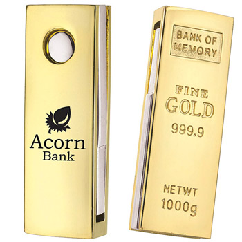 "1 GB Mini ""Golden Nugget"" USB 2.0 Flash Drive"