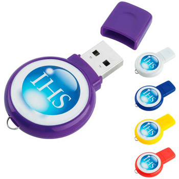 1 GB Circle USB 2.0 Flash Drive