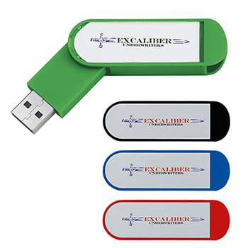 16GB Labeled Folding USB 2.0 Flash Drive