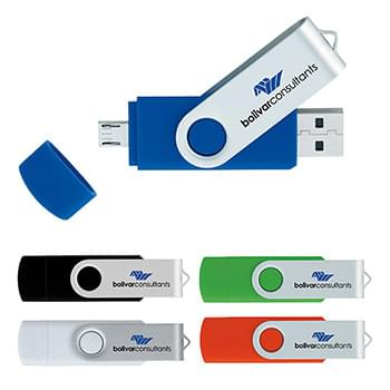 16 GB On The Go USB 2.0 Flash Drive