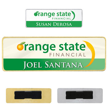 "3"" x 1"" Metal Name Tag"