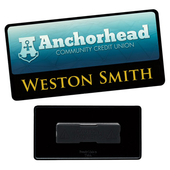 "3"" x 1-1/2"" Metal Label/Engraved Combo Name Tag"