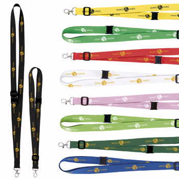 "3/4"" Adjustable Polyester Lanyard"