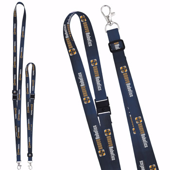 "5/8"" Adjustable Polyester 4 Color Lanyard"