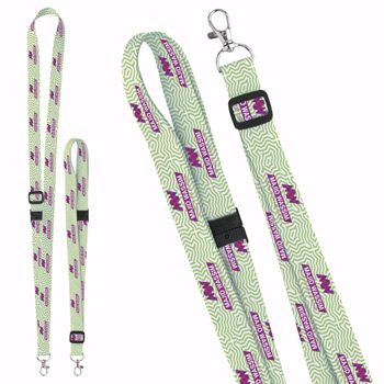 "3/4"" Adjustable Polyester 4 Color Lanyard"