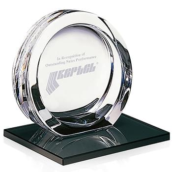 High Tech Award on Black Glass Base - Medium