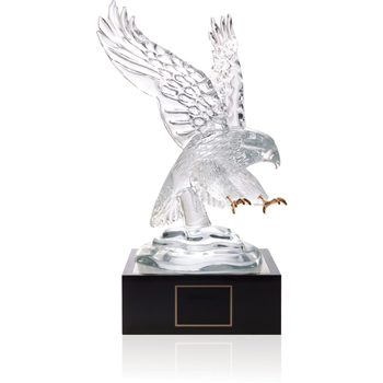"Eagle Award with 4"" Lighted Pedestal"