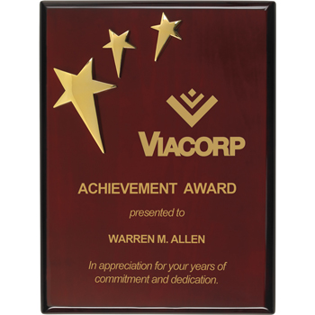3-Star Piano Finish Plaque