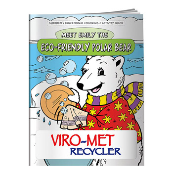 Coloring Book: Eco-Friendly Polar Bear