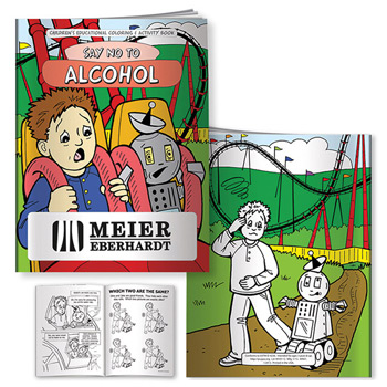 Coloring Book: Say No to Alcohol