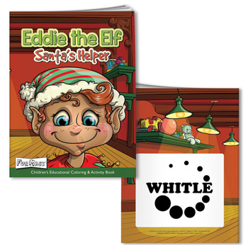 Coloring Book with Mask: Eddie the Elf