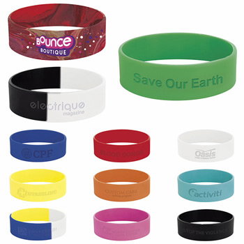 "3/4"" inch Silicone Wrist Band"