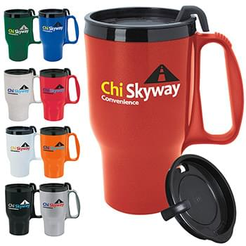 Budget Traveler Mug with Slider Lid - 16 oz.