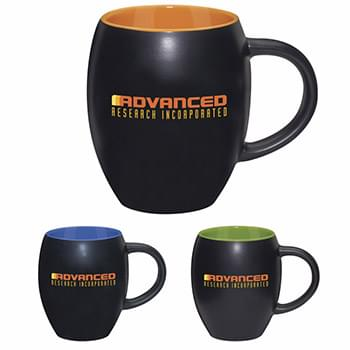 Matte Barrel With Color Mug - 17 oz.