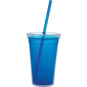 Double Wall Translucent Tumbler - 18 oz.
