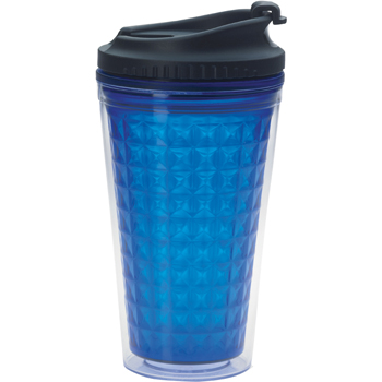 Double Wall Acrylic Tumbler with Black Lid -18 oz.
