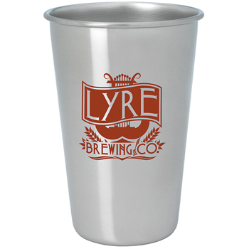 Stainless Pint Glass - 16 oz. - Color