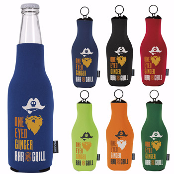 KOOZIE® Neoprene Zip-Up Bottle Kooler