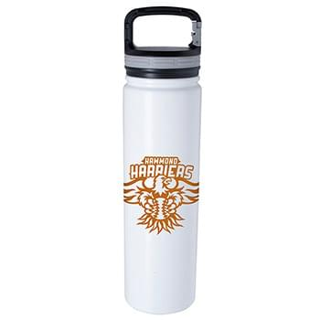 Vacuum Bottle with Carabiner Lid - 24 oz.