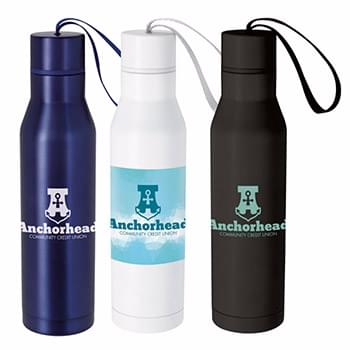 Vacuum Bottle with Carry Loop - 18 oz.