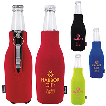 KOOZIE® Zip-Up Bottle Kooler with Opener