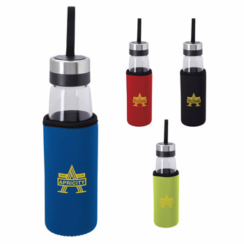 Glass Bottle with KOOZIE&#174 Kooler - 18 oz.