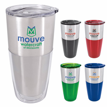 Split Color Acrylic Tumbler - 20 oz.
