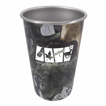 Stainless Pint Glass - 16 oz. - Camo