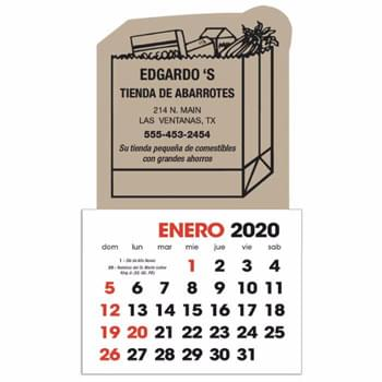 Spanish 2-Color Stick Up Grid (13-Month)