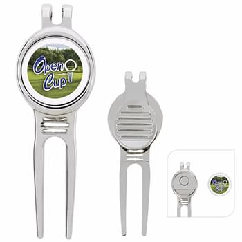 Golfers Divot Tool with Ball Marker