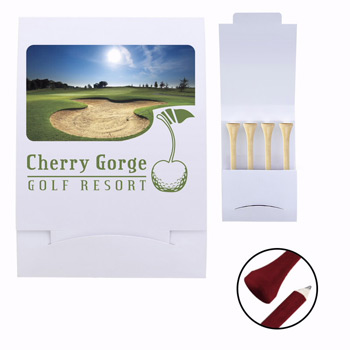 4 Teecil Golf Tee Packet